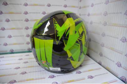Шлем интеграл Hizer 522 black/yelow green (S)