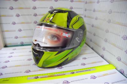 Шлем интеграл Hizer 522 black/yelow green (M)