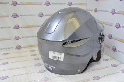 Шлем открытый David с очками №327 серый