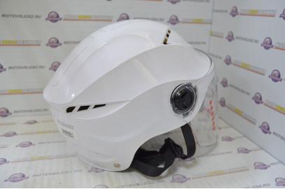 Шлем открытый David с очками №327 белый
