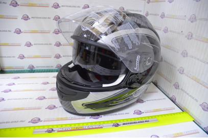 Шлем интеграл THH TS-42 №7 2-стекла Carbon