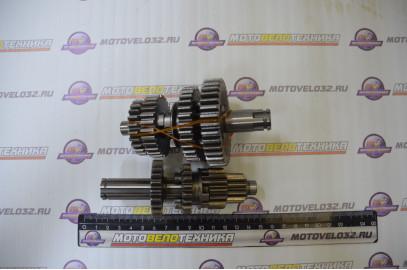 Валы КПП с шестернями TTR125, Kayo Basic L-116мм + L-120мм