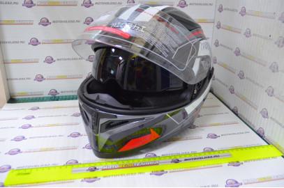Шлем интеграл KIOSHI Avatar 316 с очками (Красный, S)