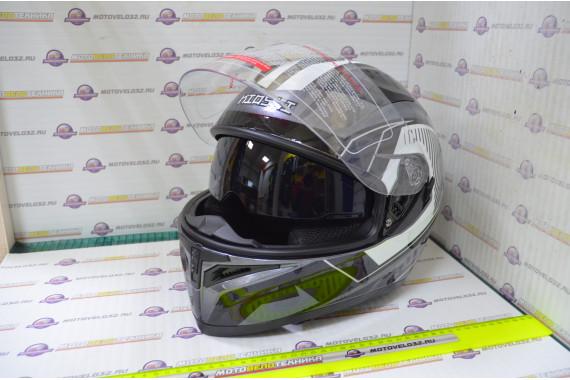 Шлем интеграл KIOSHI Avatar 316 с очками (Серый, M)