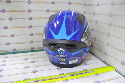 Шлем интеграл KIOSHI Avatar 316 с очками (Синий, M)