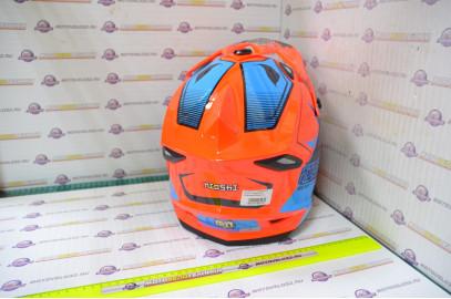Шлем кроссовый KIOSHI Holeshot 801 (Оранжевый/синий, S)
