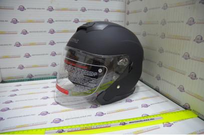 Шлем открытый KIOSHI 526 со стеклом и очками (Черный матовый, S)