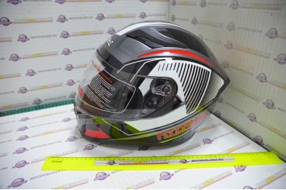 Шлем интеграл KIOSHI Avatar 316 с очками (Красный, L)