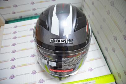 Шлем интеграл KIOSHI Avatar 316 с очками (Красный, XL)
