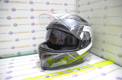Шлем интеграл KIOSHI Avatar 316 с очками (Серый, S)
