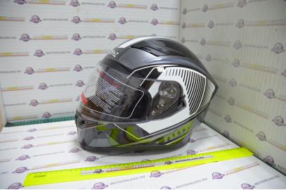 Шлем интеграл KIOSHI Avatar 316 с очками (Серый, XL)
