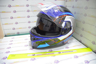 Шлем интеграл KIOSHI Avatar 316 с очками (Синий, L)