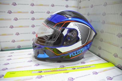 Шлем интеграл KIOSHI Avatar 316 с очками (Синий, XL)