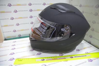 Шлем интеграл KIOSHI Avatar 316 с очками (Черный матовый, L)