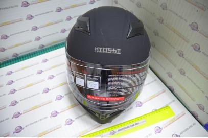 Шлем интеграл KIOSHI Avatar 316 с очками (Черный матовый, S)