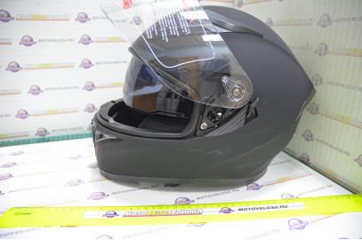 Шлем интеграл KIOSHI Avatar 316 с очками (Черный матовый, M)