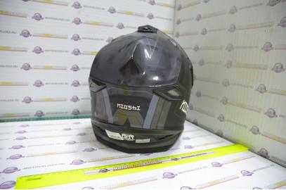Шлем кроссовый KIOSHI Fighter 802 со стеклом и очками (Черный, M)