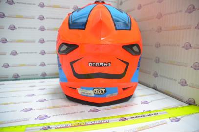 Шлем кроссовый KIOSHI Holeshot 801 (Оранжевый/синий, L)