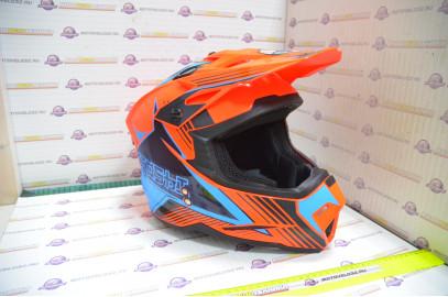 Шлем кроссовый KIOSHI Holeshot 801 (Оранжевый/синий, M)