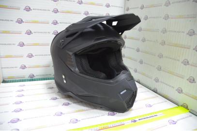 Шлем кроссовый KIOSHI Holeshot 801 (Черный матовый, S)