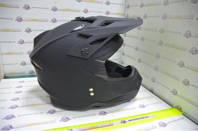 Шлем кроссовый KIOSHI Holeshot 801 (Черный матовый, XL)