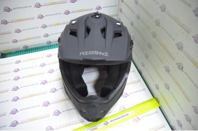 Шлем кроссовый KIOSHI Holeshot 801 (Черный матовый, M)