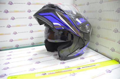 Шлем модуляр KIOSHI Tourist 902 (Синий XL)