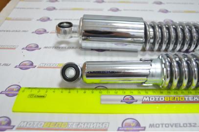Амортизатор задний 340 мм Мопед Alpha Delta хром, регулируемые комплект