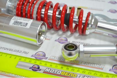 Амортизатор задний 345 мм Мопед Alpha, Delta газовый с подкачкой комплект