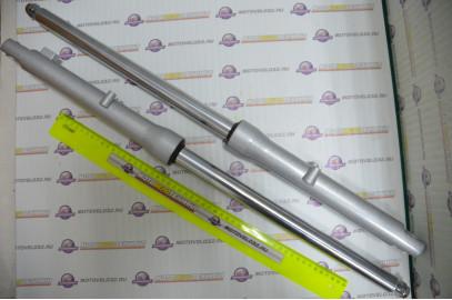 Перья вилки комплект Alpha Мопед, барабанный тормоз d=27мм ось 10мм