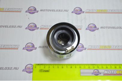 Фильтр воздушный нулевого сопротивления 42мм прямой L-50мм с колпачком