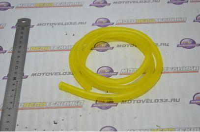Шланг бензиновый 4,5х8,5, 1м, силиконовый (желтый)