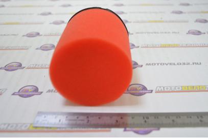 Фильтр воздушный нулевого сопротивления #5 (d=42mm) поролон черн./красный