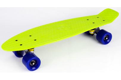 "Скейтборд DS 01 lime/blue дека 22,5*6"""