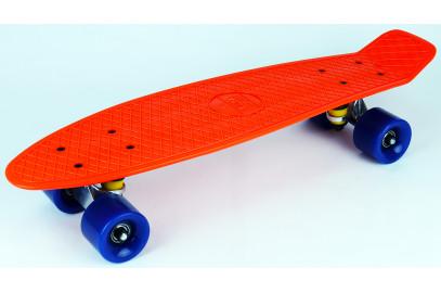"Скейтборд DS 01 orange/blue дека 22,5*6"""