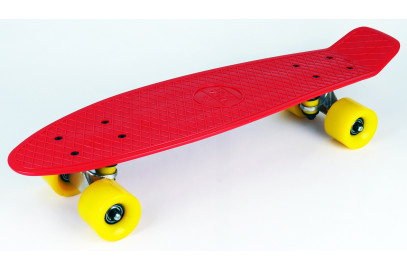 """Скейтборд DS 01 red/yellow дека 22,5*6"""""""