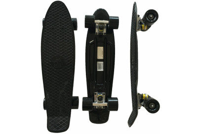 "Скейтборд DS 01 full black дека 22,5*6"""