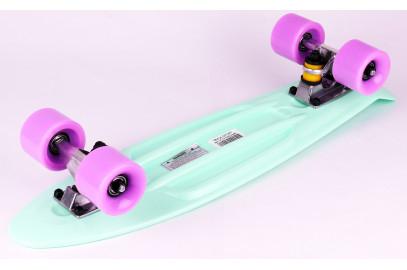 "Скейтборд DS 01 mint/violet дека 22,5*6"""