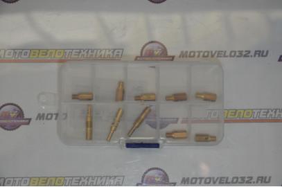 Набор жиклеров NIBBI PWK, Keihin (7 главных и 3 х/х)100-118 (30-35)