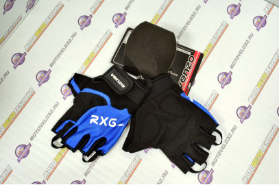 Велоперчатки, VZ-F29-003, S, короткий палец, VENZO синий,