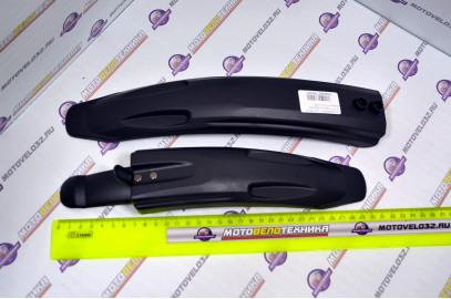 """К-т щитков на 18-20"""" пластик. коротких черных (FD-13-1F/R)"""