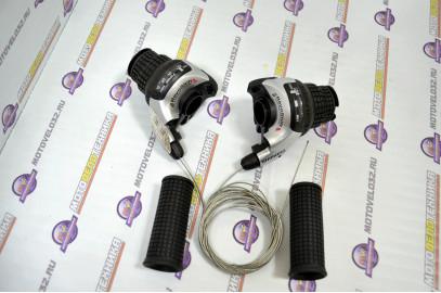Ручки переключения для горного вело (шифтер)МТВ 3х7 (SL-R541) серебро