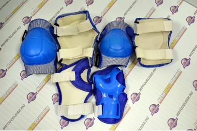Защита велосипедная (локти,колени,ладони) тип 2 пластик синий детск.