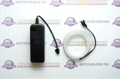 Нить светодиодная (D2.3мм, L-2м, 60LED) 3V (цв.белый теплый)