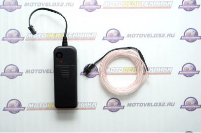 Нить светодиодная (D2.3мм, L-2м, 60LED) 3V (цв.белый холодный)