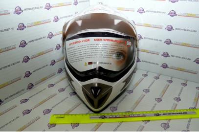 Шлем кросс HIZER 613 M белый