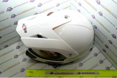 Шлем кроссовый HIZER 613 M белый
