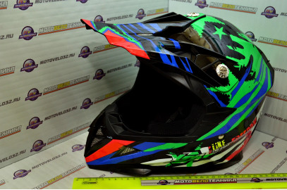 Шлем кроссовый HIZER 211 (S) (подростковый)