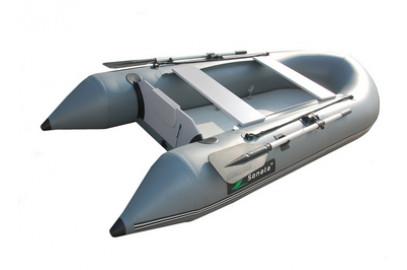 Надувная лодка Sonata 285 F (A)серая прямая